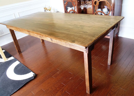 Home dzine home diy make a dining table for Dining table construction
