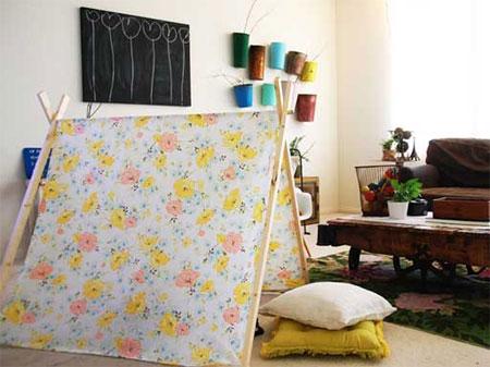 Make a kids tent & HOME DZINE Craft Ideas | Make a kids tent