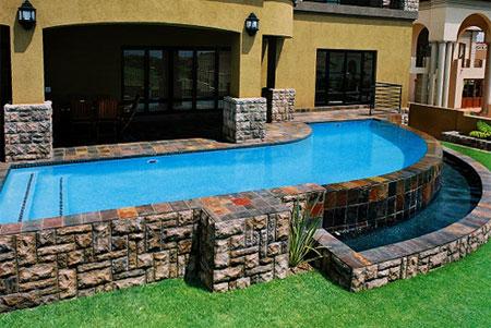 home dzine garden put in a lap pool. Black Bedroom Furniture Sets. Home Design Ideas