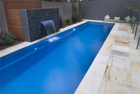 Home dzine garden put in a lap pool for Domestic swimming pool design