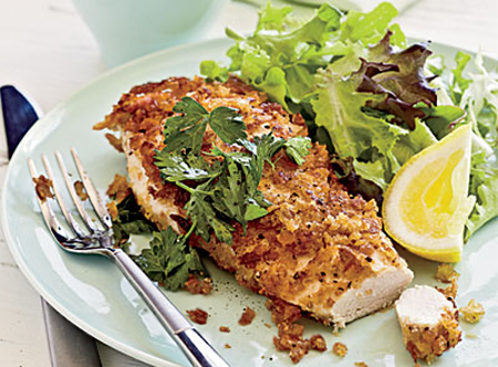 crispy crumbed chicken breast