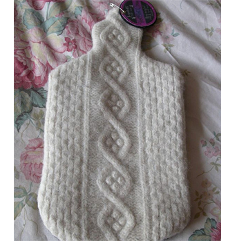 upcycle sweater jersey pullover hot water bottle cover