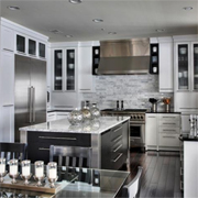 Black and white contemporary kitchen