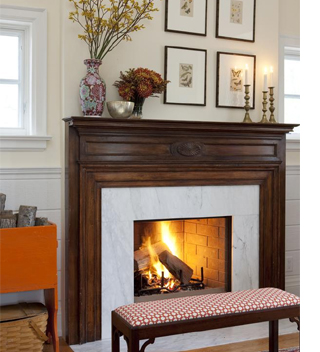Ways to add sizzle to a fireplace