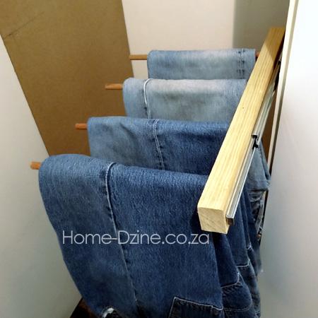 HOME DZINE Home DIY | DIY trouser hanging rack