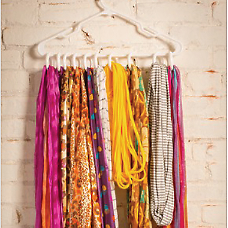 Home Dzine Craft Ideas Make A Scarf Rack With A Coat Hanger