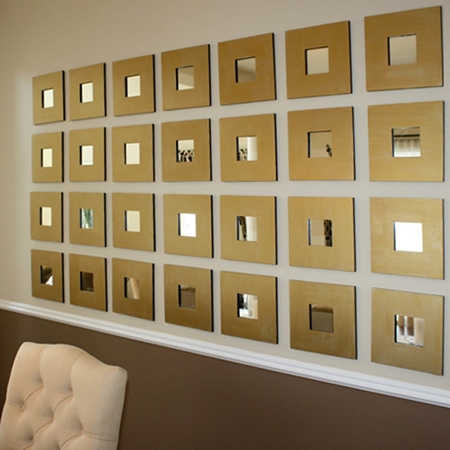 Gold Frame Mirror Wall