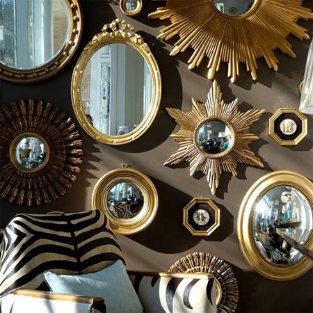 Antique Mirror Wall