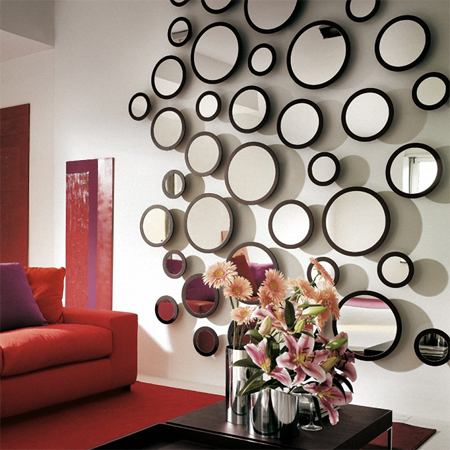 Home dzine home decor mirrors mirrors on the wall - Mirror opposite front door ...