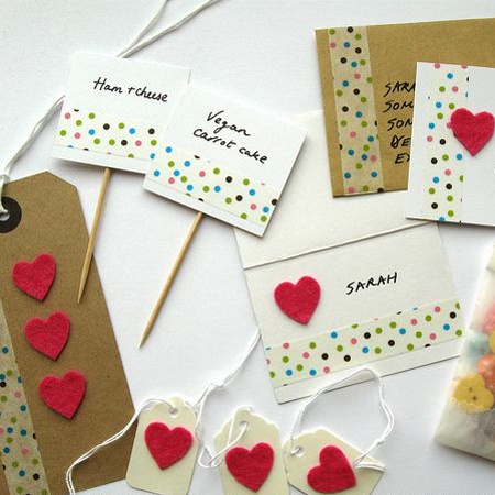 decorate cards with washi tape