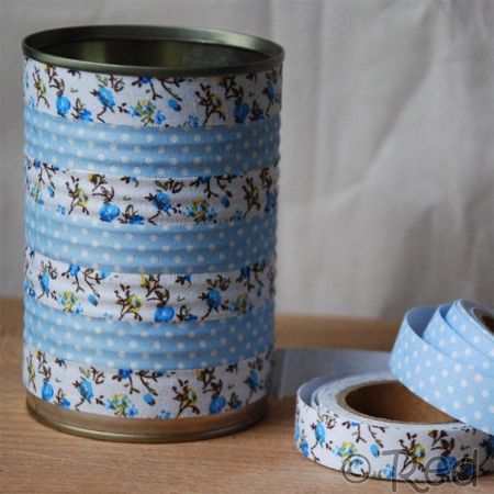 decorate cans with washi tape