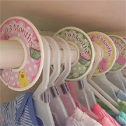 Recycle CD's into closet clothes dividers