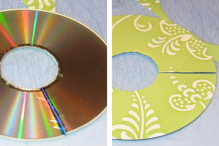 Home Dzine Bedrooms Recycle Cds Into Clothes Dividers