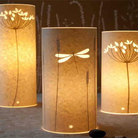 Home dzine craft ideas buy or make your own paper lamps parchment table lamp wax paper mozeypictures Gallery