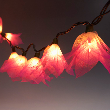 flower blossom garland fairy string led lights special occasion
