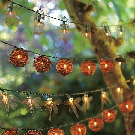 wicker dragonfly fairy hanging string led lights display special occasion party