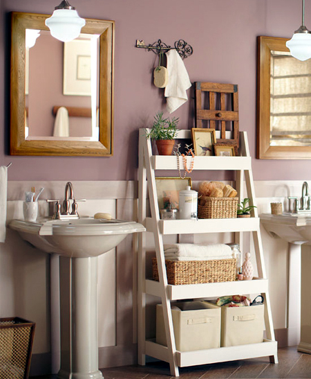 Bathroom shelf unit