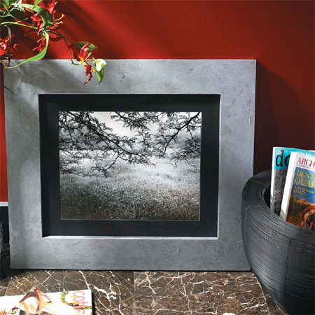 HOME DZINE Craft Ideas | Make your own faux metal picture frame
