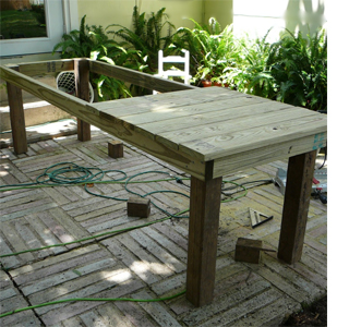 Home dzine home diy build a large outdoor farmhouse for Diy outdoor farmhouse table