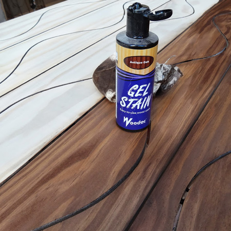 3. Stain and seal planks
