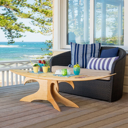 Although We Show You How To Make A Surfboard Table, You Can Use This Base  For Almost Any Table Design You Want. Replace The Surfboard With A Glass  Top, ...