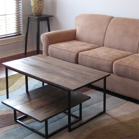 HOME DZINE Home DIY Make A Wooden Coffee Table With Steel Frame Base