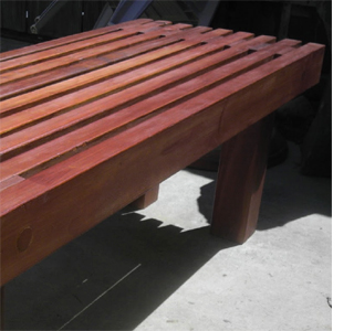 Make a classic slat garden bench