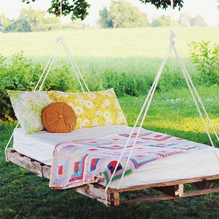 Home dzine craft ideas make a garden swing bed from