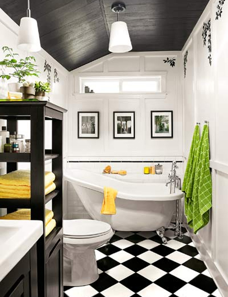 Home Dzine Bathrooms Design Solution For A Long Narrow