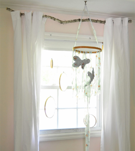 Home Dzine Craft Ideas Turn A Branch Into A Curtain Rod