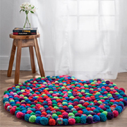 How to make a pom-pom rug