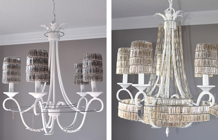Home dzine craft ideas not your average diy lighting designs paperclip chandelier aloadofball Gallery