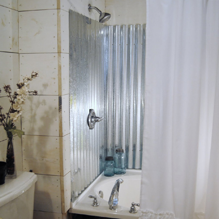 Corrugated Metal Bathroom Walls. Baroque Kohler Coralais Look Boston ...