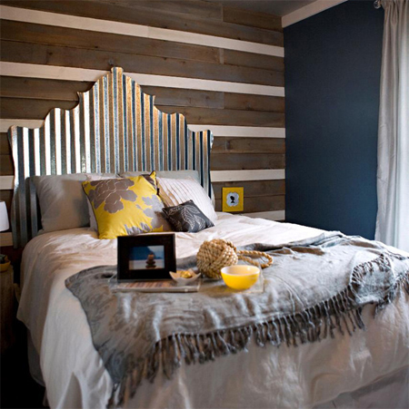 Corrugated sheet metal in bedrooms