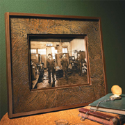 Faux leather picture frame