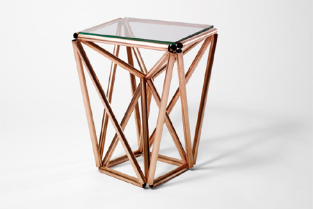 Modern Rustic Or Contemporary Furniture With Copper Pipe