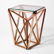 Rustic, modern or contemporary furniture using copper pipe