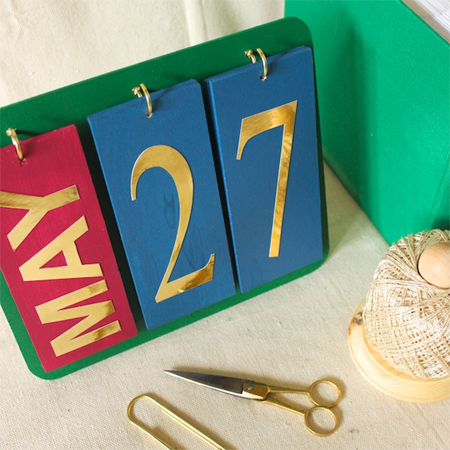 home dzine crafts and hobbies make a perpetual calendar
