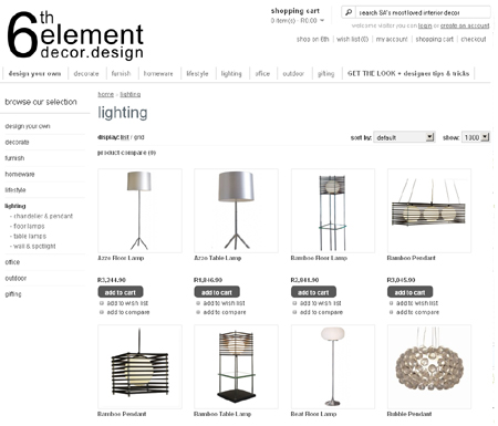 online shopping 6th element