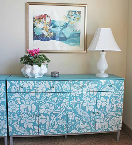 paint stencil on furniture