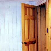 Paint knotty pine walls or ceiling