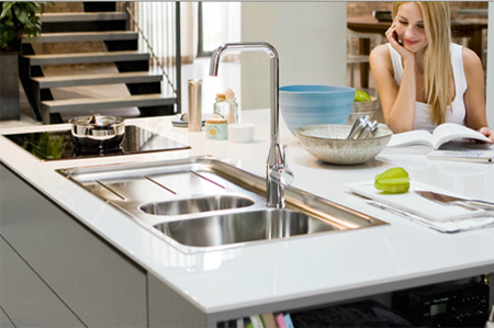 Attirant Stainless Steel Sink With Prep Bowl