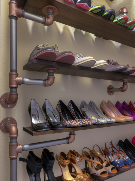 Home Dzine Home Diy Industrial Style Shoe Rack