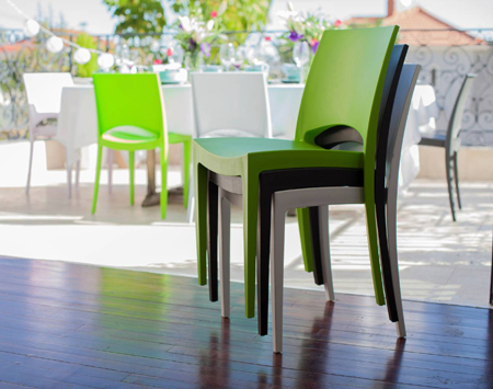 addis plastic polypropylene stella indoor outdoor stacking chair