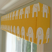 DIY upholstered pelmet for nursery