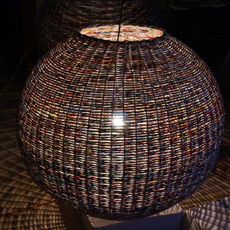 Home dzine home decor weave a paper basket lampshade weave a paper basket lampshade aloadofball Images