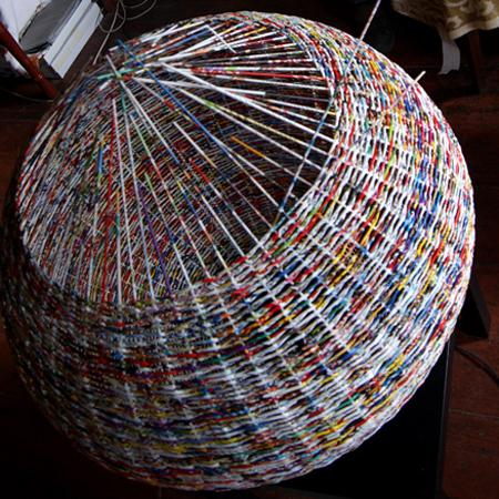 Home dzine home decor weave a paper basket lampshade weave a paper basket lampshade aloadofball Choice Image