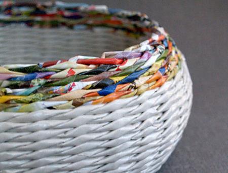 home dzine craft ideas make rolled paper wicker baskets
