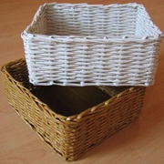 Weaving newspaper storage baskets