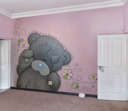 HOME DZINE How to paint a tatty teddy mural